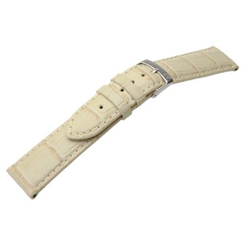 Morellato Lederarmband für Uhren Creme Samba Ansatzbreite 20 mm