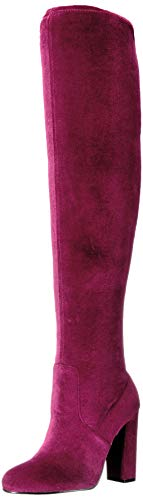 Chinese Laundry Women's Brenda Over The Knee Boot, Wine Velvet, 7 M US