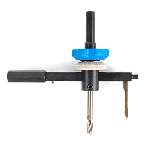 Falke Metall-Kreisschneider FKS-L (verstellbare Lochsäge) - für Stahlbleche bis 3 mm, NE-Metalle und Kunststoff | Durchmesser stufenlos einstellbar (40-120 mm)