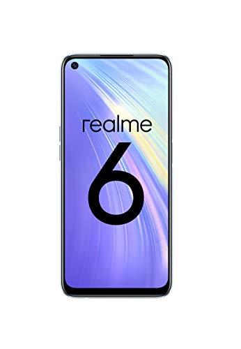 """realme 6 – Smartphone de 6.5"""", 8 GB RAM + 128 GB ROM, Procesador OctaCore, Cuádruple Cámara AI 64MP, Dual Sim, Color Comet White [Versión ES/PT]"""