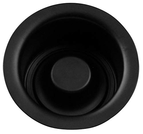 Westbrass D2082-62 Extra-Deep Waste Disposal Flange & Stopper, Matte Black
