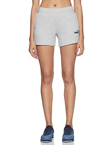 PUMA Damen ESS Sweat Shorts TR Hose, Light Gray Heather, L