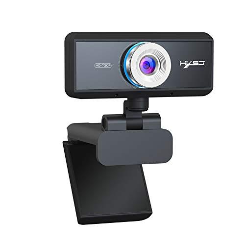 PC con Cámara Web Full HD 720P, con Micrófono, Cámara Web Portátil, Cámara Web USB 2.0, para Videollamadas, Grabación, Conferencia