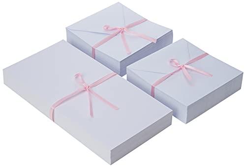 Docrafts - Set di 100 Biglietti Quadrati e Buste, Colore: Biano
