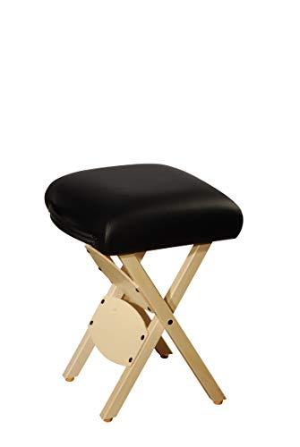 Master Massage Arbeitshocker Klapphocker Klappstuhl für Massageliege Hocker America Brand Schwarz