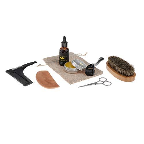Harilla Ultimate Beard Care Conditioner Kit For Men Suaviza El Peine de Peinado de Múltiples ángulos