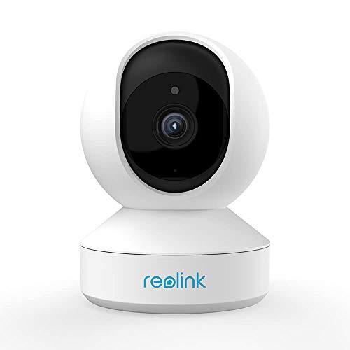 Reolink 3MP Super HD Telecamera dell'Interno Wireless Security, WiFi della Telecamera del IP 2.4Ghz, Camera Pan/Tilt Baby Monitor, Audio Bidirezionale, Visione Notturna e Visualizzazione Remota, E1
