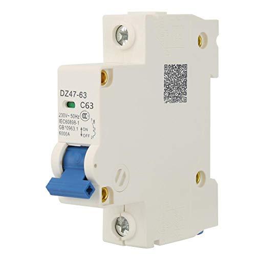 1 Pol 230VAC DZ47-63 Leitungsschutzschalter,32A / 40A / 50A / 63A Schalter für Leitungsschutzschalter,Schaltleistung 6 (KA)(63A)