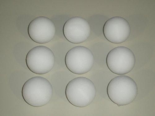 Garlando - Conjunto de 9 balones de futbolín en Color Blanco (diámetro: 36 mm)