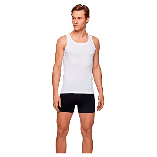 BOSS Tank Top Original Camiseta de Tirantes, Blanco (White 100), Large para Hombre