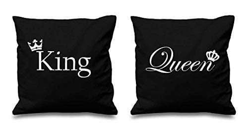 60 Second Makeover Limited King und Queen Krone Schwarz Kissenbezüge 16