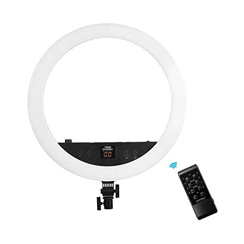 YONGNUO YN808 22 Inch Large LED Video Ring Light Studio Photography Lamp 48W Dual LED Display 3200K/5500K Bi-Color Temperature Diammable APP Control