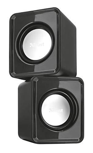 Trust Leto 2.0 USB Lautsprecher Set (6 Watt, 3,5mm, USB-Stromversorgung, für PC, Laptop, Tablet und Smartphone) schwarz