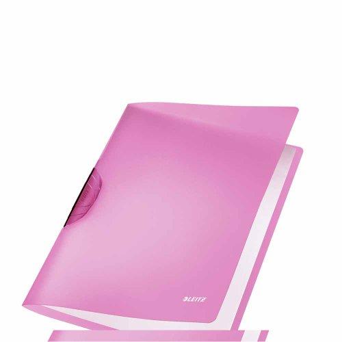 LEITZ 41760165 - Dossiers RAINBOW PP rígido clip plástico negro DIN A4 capacidad 30 hojas color violeta ✅