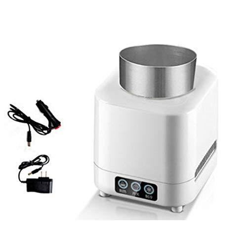 Refroidisseur de bouteilles électronique, tasse 2 en 1 (réfrigération + chauffage), mini-réfrigérateur réfrigérant à tasse rapide portable, tasse thermostatique pour la maison et les voyages (B)