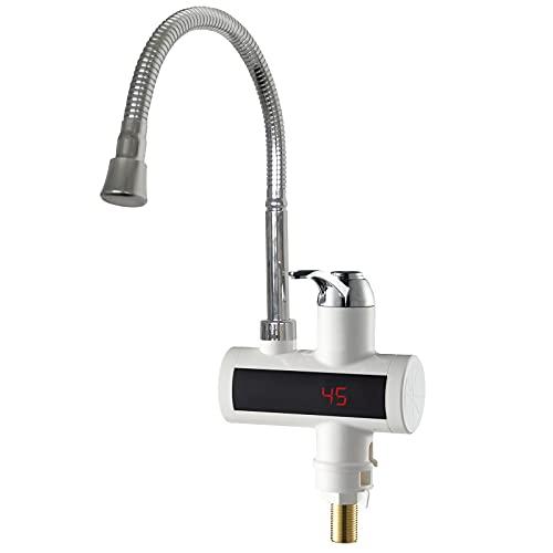 MSYLF 220V Eléctrico Grifo, Grifo Instantáneo Eléctrico Calentador De Agua Eléctrico Grifo Adecuado Para Baño, Dormitorio, Cocina.