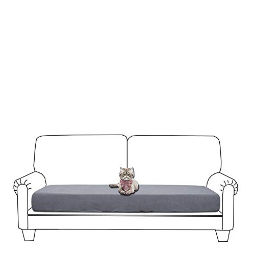 GETMOREBEAUTY Funda de cojín elástica para sofá, suave y flexible, impermeable, funda para cojín de sofá (LightGray, sofá)