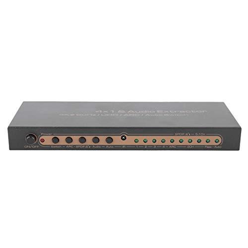 Rodipu Répartiteur Audio numérique de Fabrication Professionnelle, répartiteur HDMI immersif 4K, Adulte Durable et Longue durée de Vie pour(European regulations)