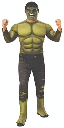 Rubie's Herren Marvel Avengers Infinity War Hulk Deluxe Costume Party-Zubehör, Mehrfarbig, Standard