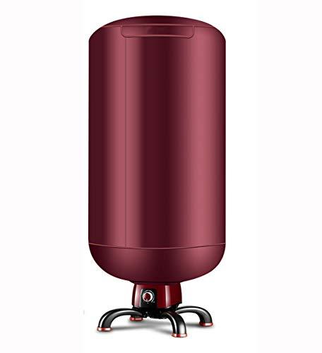 Multi-función de secado de tiempo ajustable de ahorro de energía ropa de bebé en casa secadora secadora de ropa de aire caliente pequeño secador redondo (Color : Red)