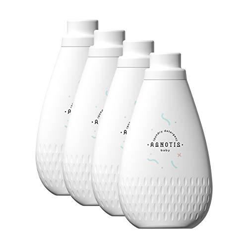 AGNOTIS 4 x 1000ml Baby Waschmittel flüssig   Vollwaschmittel sensitiv   93% pflanzenbasiert mit Extrakt aus Calendula und Bio-Kamille   antiallergisch für empfindliche Baby Haut, hygienisch