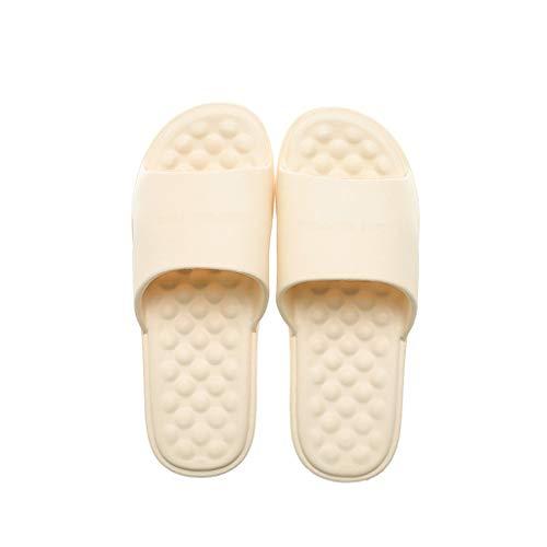 OMING Hausschuhe Sommer Badezimmer Hausschuhe, Frauen-Innenhaupt Massage Weichboden Bad Sandalen und Pantoffeln Massage Hausschuhe (Color : C, Größe : 38-39)