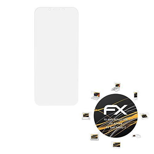 atFolix Panzerfolie kompatibel mit Allview X4 Soul Infinity Z Schutzfolie, entspiegelnde & stoßdämpfende FX Folie (3X)