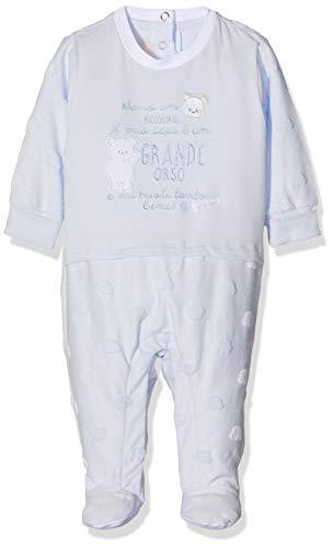 Chicco Tutina con Apertura Interno Gamba Mono Corto, Turquesa (Azzurro Chiaro 021), Recién Nacido (Talla del Fabricante: 044) para Bebés