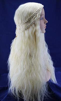 Diy Wig Long Wave Styled Braid Blonde Synthetic Cosplay Wigs Game of Thrones Halloween Party product image