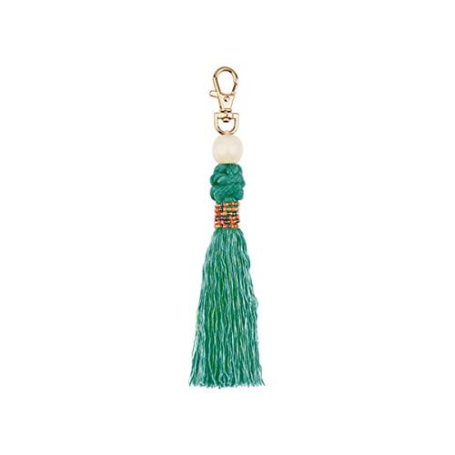 1 Uds Cuentas de Madera de Moda Borla DIY joyería Cortina Prendas de Vestir Accesorios Decorativos Llavero Bolso Colgante Artesanal borlas-Verde