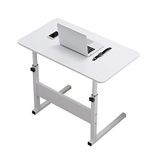 Mesa de Ordenador Portátil Mesa Auxiliar Altura Ajustable Mesas de Centro, EstacióN De Trabajo for El Hogar o el Hospital, Cama y Sofá (Color : White)