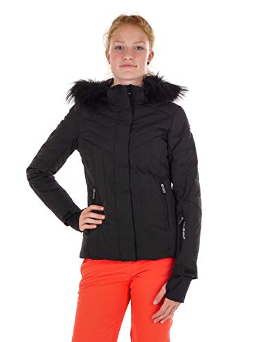 CMP Skijacke Snowboardjacke Woman SKI Jacket Zip Hood SCHWARZ WÄRMEND (34)