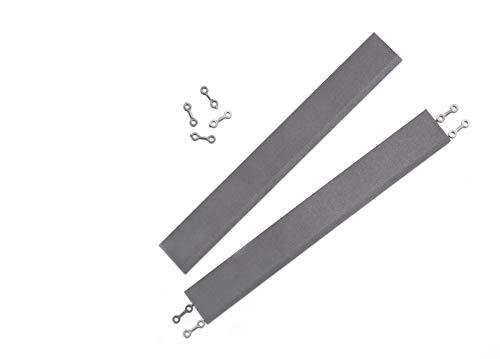 andiamo Kantenleiste zur Kunststofffliese Bodenfliese Gartenfliese Länge: 38 cm, Set: 2 Kantenleisten, dunkelgrau