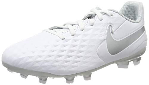 Nike Jungen Jr Legend 8 Academy FG/MG Fußballschuh, White/Chrome-Pure Platinum, 35 EU