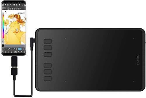 Huion H640P ペンタブレット 8192レベル筆圧 充電不要ペン 6x4インチ 小型ペンタブ お描き osuゲーム用