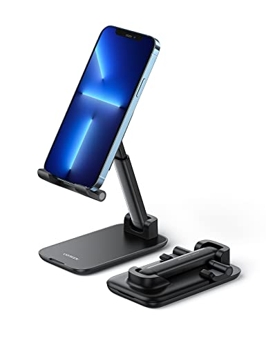 UGREEN Soporte Móvil, Soporte Teléfono Movil Mesa Plegable Atril Movil Mesa Multiángulo Soporte Smartphone para...