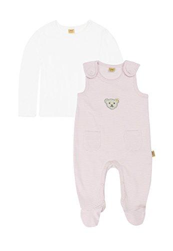 Steiff Baby-Unisex 6605 Strampler, Rosa (Barely Pink 2560), (Herstellergröße: 68)