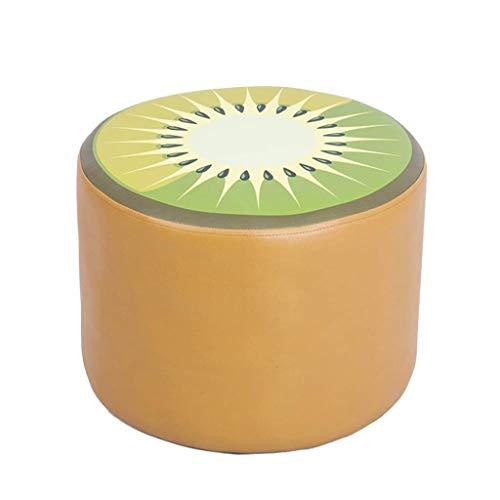 RFJJ Osmanische Fußhocker Hocker Fußhocker Tritthocker Arbeitshocker Beauty Roller Hocker Schlafzimmer Wohnzimmer Cortex Fruchtform Mehrere Möglichkeiten 40 * 40 * 30cm (Color : Kiwi)