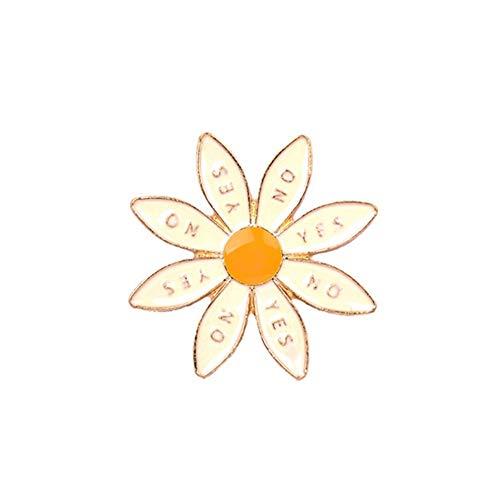 WBNCUAP 3 Estilo Linda Insignia Flor Seco sobre Mujer Broches Esmalte Pines Moda Joyería Bolsa Sombrero Denim Pin Accessories Regalo Broche para Niños (Metal Color : Style 1)