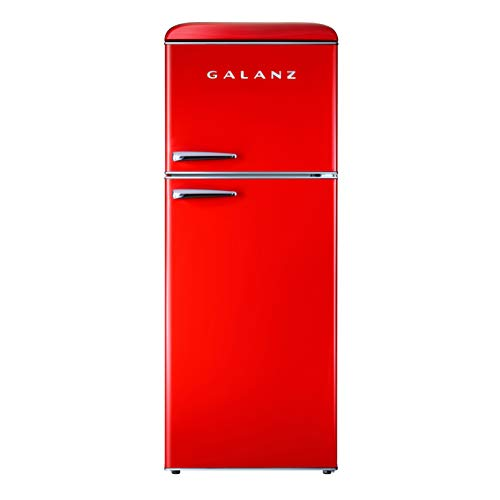powerful Galanz GLR10TRDEFR Retro Refrigerator, 10.0 Cu Ft, Red