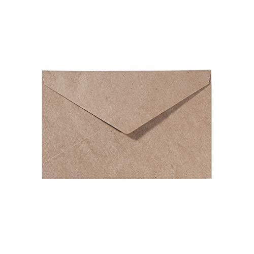 Vaessen Creative Florence Briefumschläge DIN C6 Kraft Braun, 5 Stück, für Geburtstagskarten, passende Faltkarten erhältlich