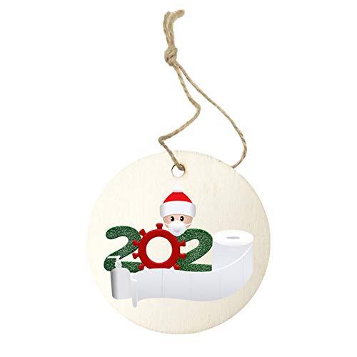 Eastdall Decoração De Casa,2020 Nova Decoração de Árvore de Natal Sobreviveu Família Ornamento de Natal Pendurado Decoração de Casa