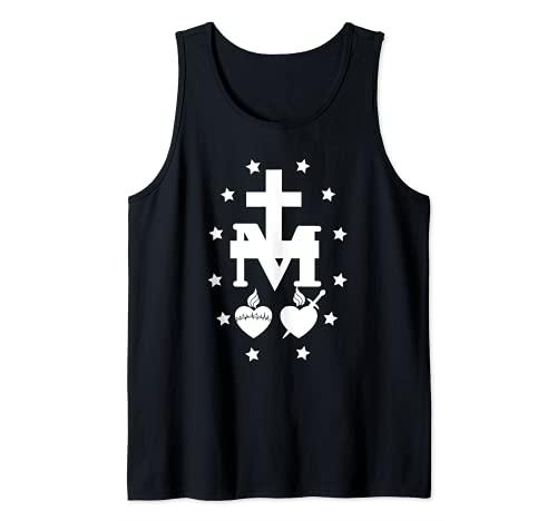 Medalla Milagrosa De Inmaculada Concepción Católica Mariana Camiseta sin Mangas