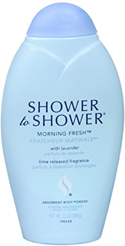 SHOWER TO SHOWER Body Powder Morning Fresh 13 oz (Pack of 2)