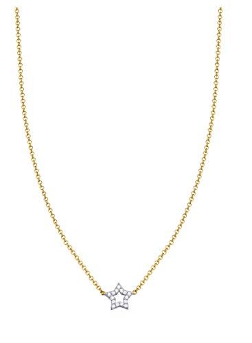 Esprit Essential Damen-Kette mit Anhänger ES-PICO WISH 925 Silber - vergoldet Zirkonia transparent 42 cm - ESNL93366B420