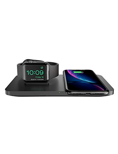 Seneo Dual 2 in 1 Wireless Charger, Apple Watch Charging Pad, Nightstand Mode for iWatch Series...