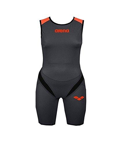 Arena Powerskin Triathlon W Zipped Trisuit Carbon Pro Damen (Black-Fluo Orange, Gr. S (36))