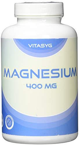 Vitasyg Magnesium 400-300 Kapseln (10 Monatsvorratdose) mit 400mg reinem Magnesium pro Kapsel - ohne Magnesiumstearat - Made in Germany