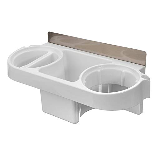 LJSF Estante de baño Secador de Pelo Rack Titular de Peine Almacenamiento de baño Organizador Autoadhesivo Montado en la Pared Soporte para la Plancha de champú para baño y Cocina (Color : White)