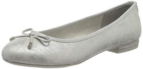 MARCO TOZZI Damen 2-2-22135-34 Geschlossene Ballerinas, Grau (Lt.Grey Metal. 237), 40 EU